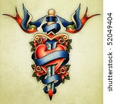 tattoo illustration | Shutterstock . vector #52049404