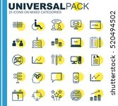 set of 25 universal editable... | Shutterstock .eps vector #520494502