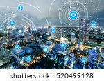 icons of wifi  internet ... | Shutterstock . vector #520499128