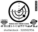 black radar pictograph with... | Shutterstock .eps vector #520502956