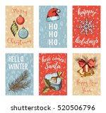 christmas  new year  noel... | Shutterstock .eps vector #520506796