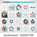 big collection of vector arrows ... | Shutterstock .eps vector #520507738