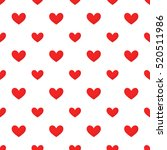 red hearts pattern illustration | Shutterstock .eps vector #520511986