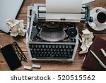 vintage type writing machine.... | Shutterstock . vector #520515562