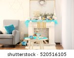 interior of beautiful living... | Shutterstock . vector #520516105