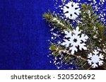 christmas decoration.decorative ... | Shutterstock . vector #520520692