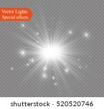 glow light effect. star burst... | Shutterstock .eps vector #520520746