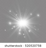 glow light effect. star burst... | Shutterstock .eps vector #520520758