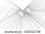 abstract architecture | Shutterstock .eps vector #520522738