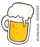 beer mug.   Shutterstock .eps vector #52052524