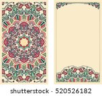 set of invitation cards with... | Shutterstock .eps vector #520526182