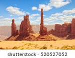 totem pole in monument valley ... | Shutterstock . vector #520527052