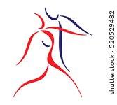 dancing couple icon. dance... | Shutterstock .eps vector #520529482