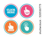 click here icons. hand cursor... | Shutterstock .eps vector #520530775