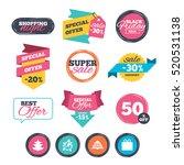 sale stickers  online shopping. ... | Shutterstock .eps vector #520531138