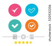 check icons. checkbox confirm... | Shutterstock .eps vector #520532206
