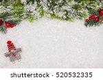 christmas greeting card.... | Shutterstock . vector #520532335