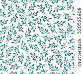 christmas seamless pattern with ...   Shutterstock .eps vector #520532608