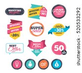 sale stickers  online shopping. ... | Shutterstock .eps vector #520533292