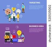 vector business elements ... | Shutterstock .eps vector #520535002