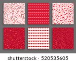 valentine day hearts patterns...