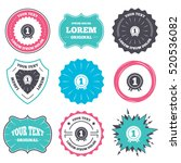 label and badge templates....   Shutterstock .eps vector #520536082