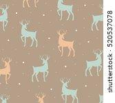 decorative reindeer cute vector ... | Shutterstock .eps vector #520537078