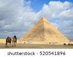 Giza Pyramids In Cairo   Egypt