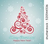 vector merry christmas and... | Shutterstock .eps vector #520544536