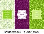 vector set of packaging design... | Shutterstock .eps vector #520545028