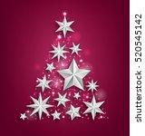 illustration abstract garland... | Shutterstock .eps vector #520545142