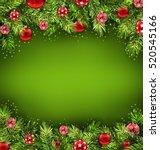 illustration christmas banner... | Shutterstock .eps vector #520545166