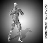 concept strong human or man 3d... | Shutterstock . vector #520547092
