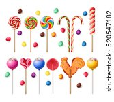 collection of lollipops with a... | Shutterstock .eps vector #520547182