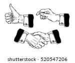 set of icons mens hands making... | Shutterstock .eps vector #520547206