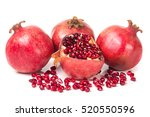 Four Pomegranate Isolated On A...