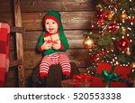 Happy Baby Elf Helper Of Santa...