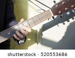 close up of a young musician... | Shutterstock . vector #520553686