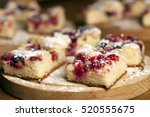 homemade pie with forest fruits | Shutterstock . vector #520555675