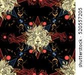medieval seamless pattern... | Shutterstock .eps vector #520557205