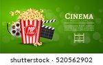 movie film banner design...   Shutterstock .eps vector #520562902