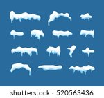 ice or snow blue vector caps... | Shutterstock .eps vector #520563436