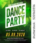 dance party poster template.... | Shutterstock .eps vector #520563556