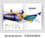 unusual abstract corporate... | Shutterstock . vector #520565842