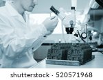 microchip production factory.... | Shutterstock . vector #520571968