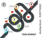 navigation winding road vector... | Shutterstock .eps vector #520574062
