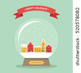 christmas and wintertime small...   Shutterstock .eps vector #520578082