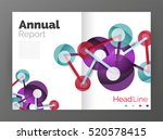 lines and circles  modern... | Shutterstock . vector #520578415