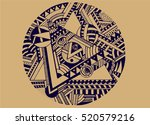 abstract emblem. hand drawn... | Shutterstock .eps vector #520579216