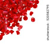 Background Of Red Rose Petals....
